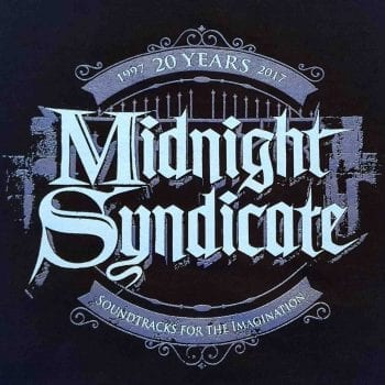 Midnight Syndicate Halloween Music 20th Anniversary logo in purple