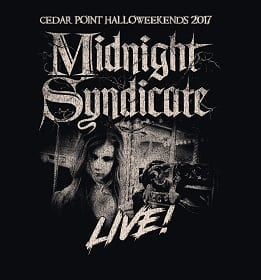 Midnight Syndicate Live! 2017 logo featuring Sarah Douglas