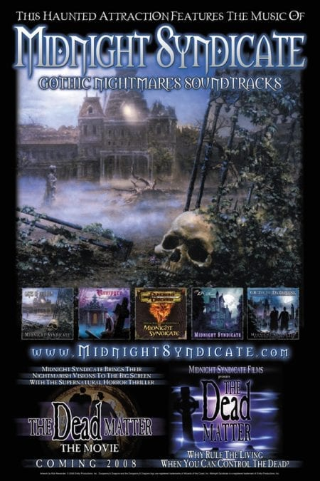 Midnight Syndicate Haunted Attraction Registry Poster 2007