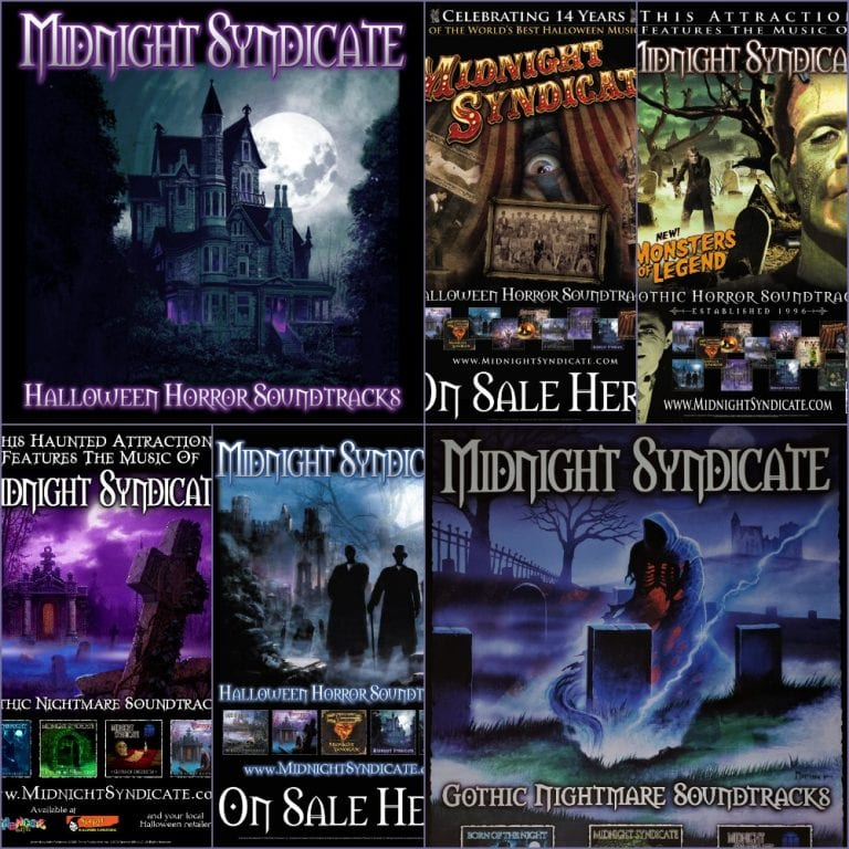 Midnight Syndicate poster collage